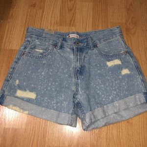 NWT Levi distressed girlfriend shorty jean shorts